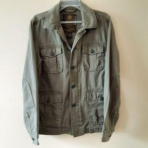 Lucky Brand Men's Army Green Cotton Jacket  Sz Sm